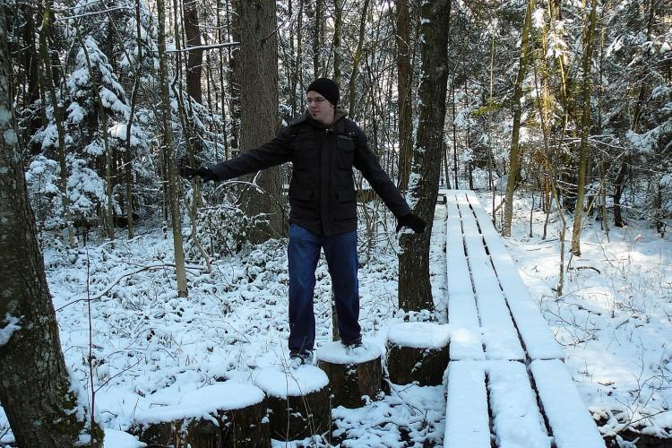 Walderlebnispfad im Winter