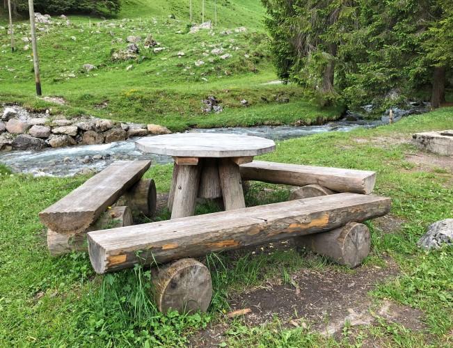 Feuerstelle am Senggibach am Erlebnisweg Grimmimutz