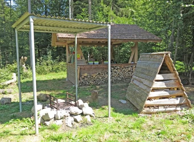 Feuerstelle direkt am Alpenbockweg