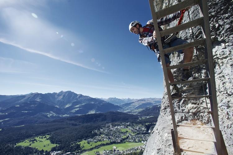 Pinut Historische Klettersteig - © Gaudenz Danuser Switzerland, GaudenzDanuser, www.GaudenzDanuser.com
