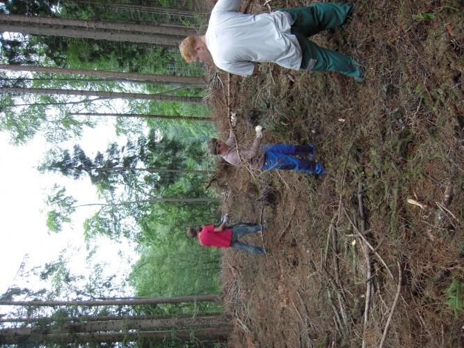 Journée d'aventure d. la forêt