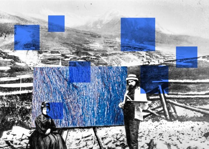 Ausstellung «Segantini in Savognin» in der Sala Segantini - © welttraum