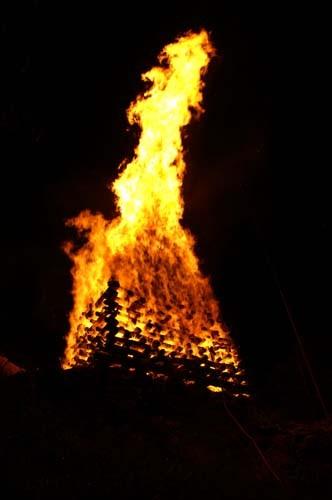 Höhenfeuer auf der Holzfluh
