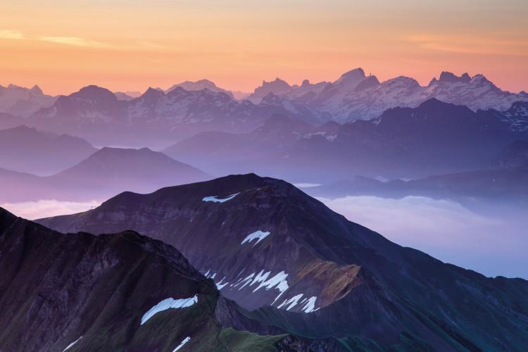 Sonnenaufgang auf dem Rothorn