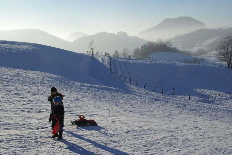 Escursione invernale cresta