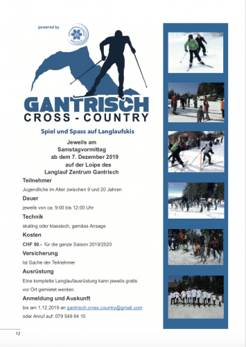 Gantrisch Cross Country - Junior-Langlauftraining