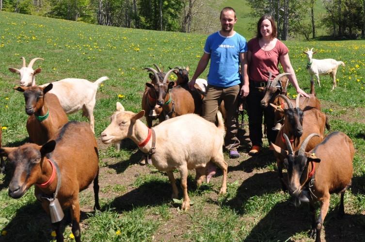 Marion et David Guignard, éleveurs à Vaulion