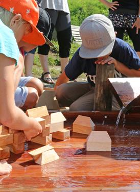 Wassererlebniskiste auf dem Wasserspielplatz Gwunderwasser