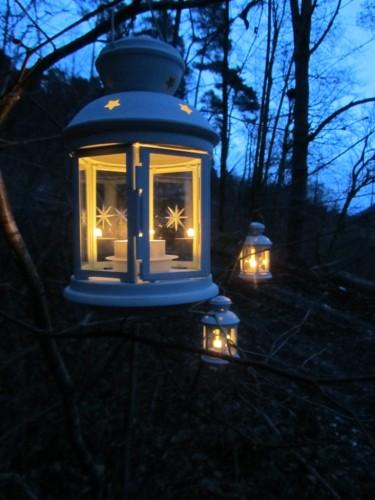 Lichterweg zur Lourdes Grotte