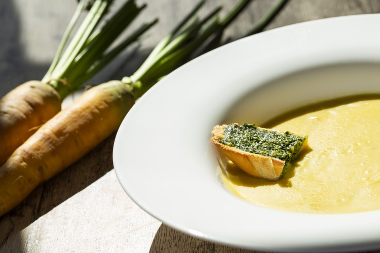 La carotte Jaune du Doubs dans les restaurants
