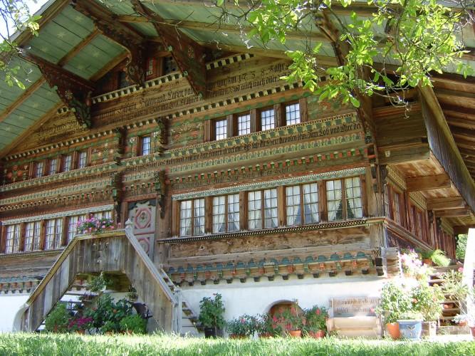 Alte Simmentaler Bauernhäuser