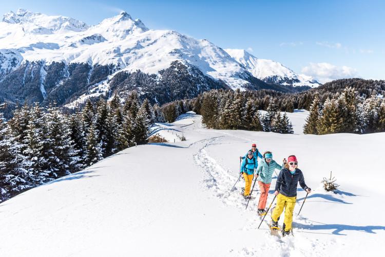 Alp Flix Schneeschuhtour - © Foto: Tourismus Savognin Bivio Albula AG, Mattias Nutt