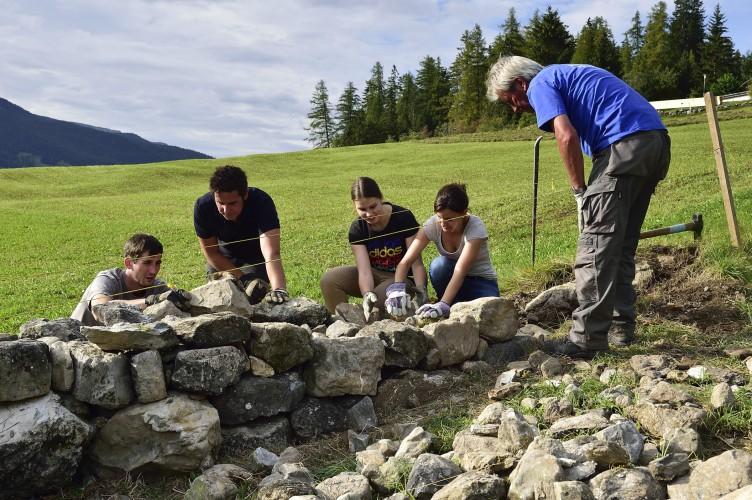 Trockenmauerbaukurs in Savognin