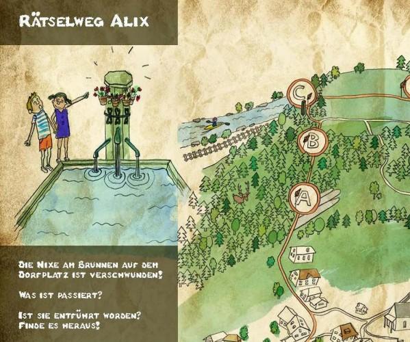 Rätselweg Alix