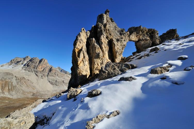 Felsentor im Val d'Agnel