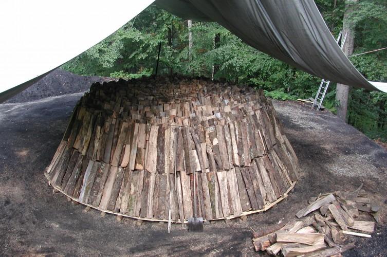 Holzköhlerei
