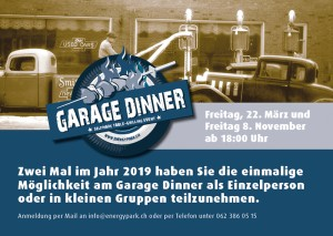 Garage Dinner