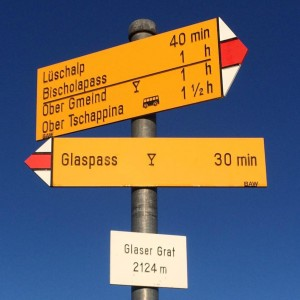 Sentier Glaspass