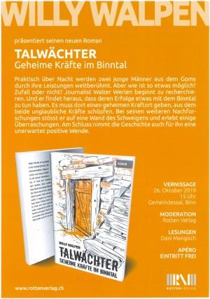 """Buchvernissage """"Talwächter. Geheime Kräfte im Binntal"""""""
