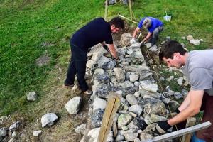Trockenmauerbaukurs Einführung
