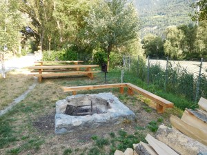 Barbecue area Rhonebord
