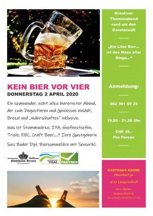 KEIN BIER VOR VIER - Themenabend rund ums Bier