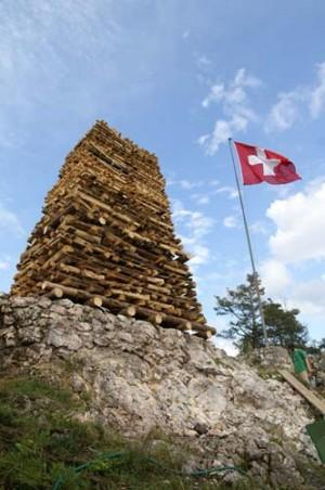 Höhenfeuer auf der Holzfluh - © Holzfluh-Verein Balsthal